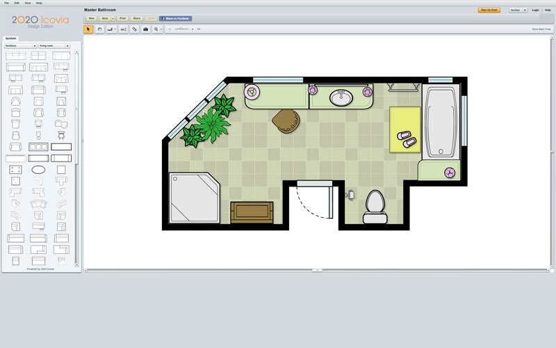 Room Planning Software 2020 Icovia 2d Space Planning